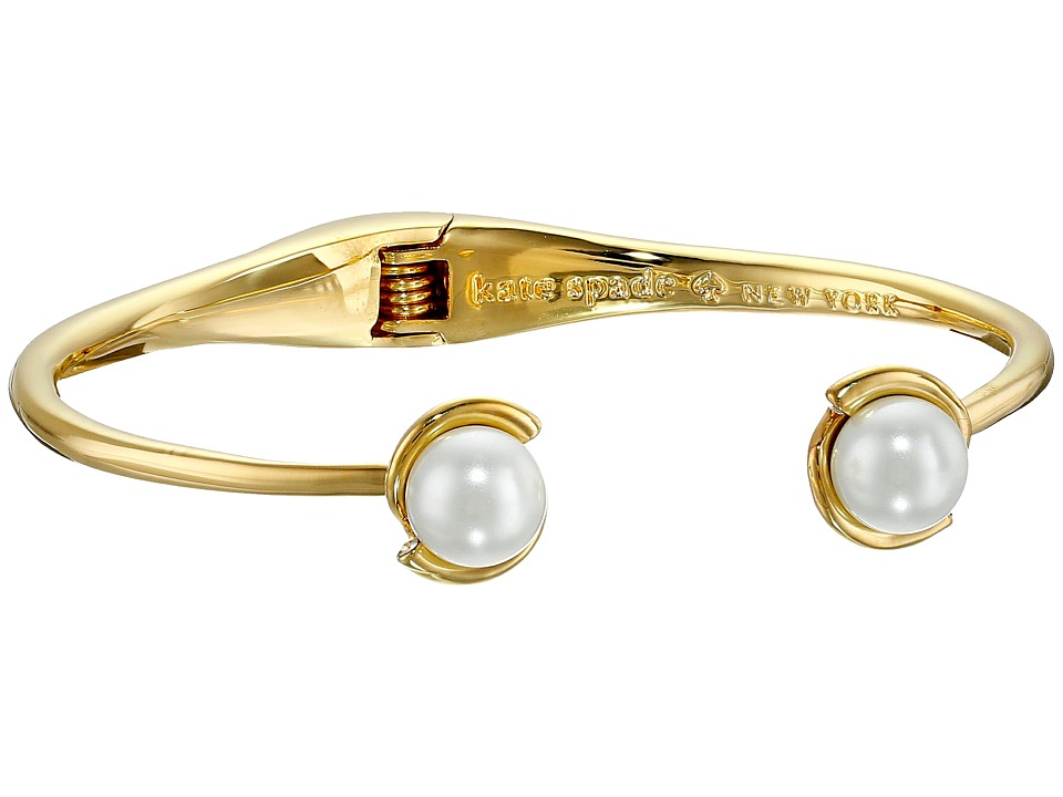 Kate Spade New York - Dainty Sparklers Pearl Cuff Bracelet (Cream) Bracelet