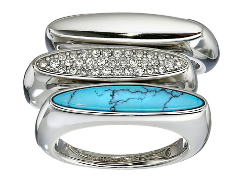 Michael Kors - Semi Precious 3 Stack Ring (Silver) Ring