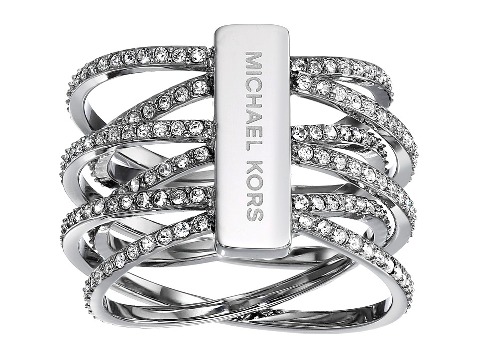 Michael Kors - Pave Crisscross Ring (Silver) Ring