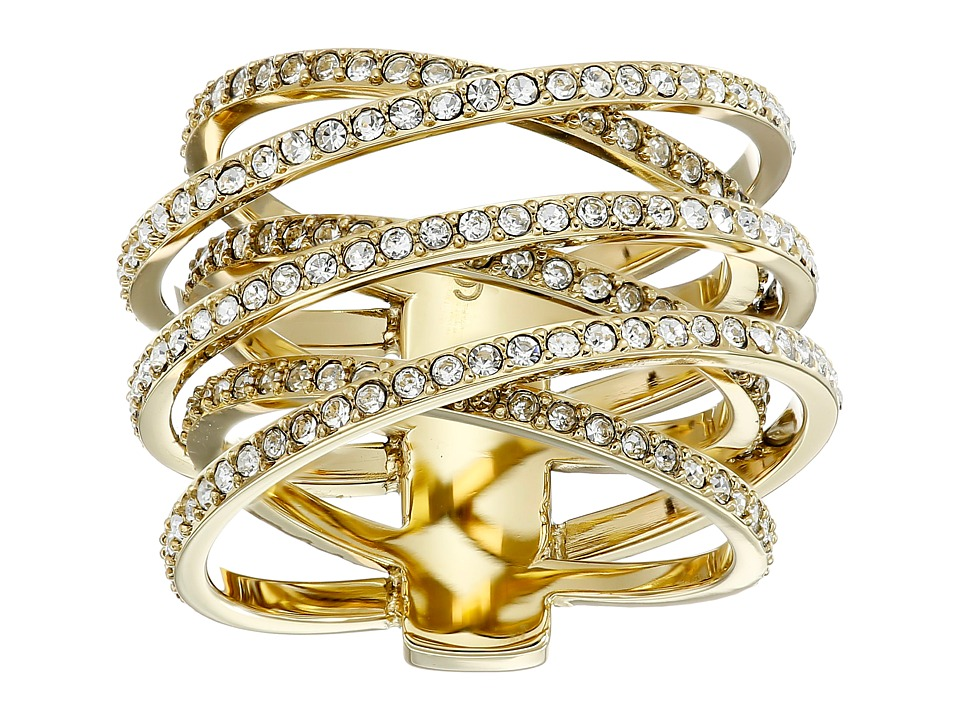 Michael Kors - Pave Crisscross Ring (Gold) Ring