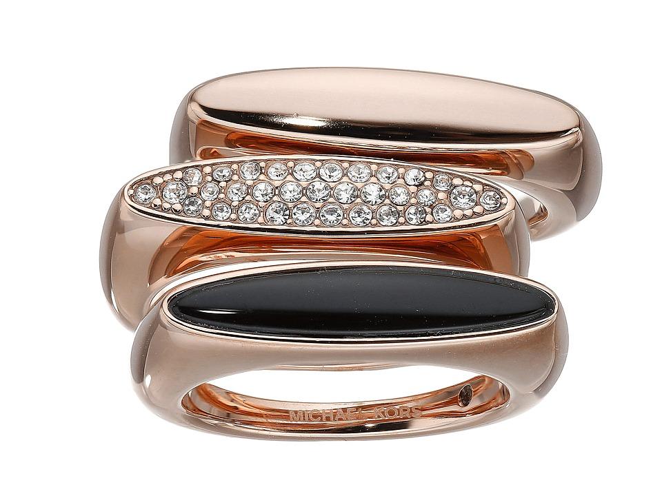 Michael Kors - Semi Precious 3 Stack Ring (Rose Gold) Ring