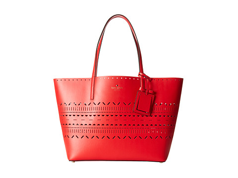 Kate Spade New York - Lillian Court Medium Harmony (Cherry Liquer) Tote Handbags