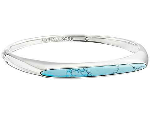 Michael Kors - Semi Precious Hinged Bangle Bracelet (Silver) Bracelet