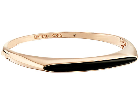 Michael Kors - Semi Precious Hinged Bangle Bracelet (Rose Gold) Bracelet