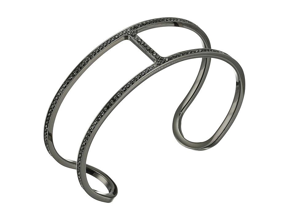 Michael Kors - Delicate Pave Maritime Open Cuff Bracelet (Black) Bracelet