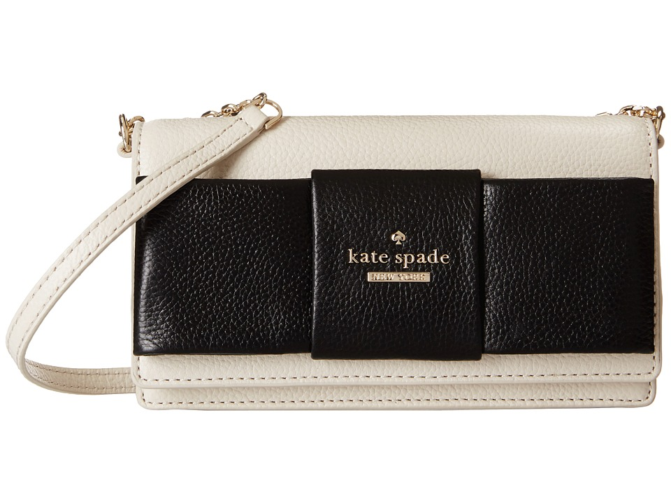 Kate Spade New York - Julia Street Rina Crossbody (Light Canvas/Black) Cross Body Handbags