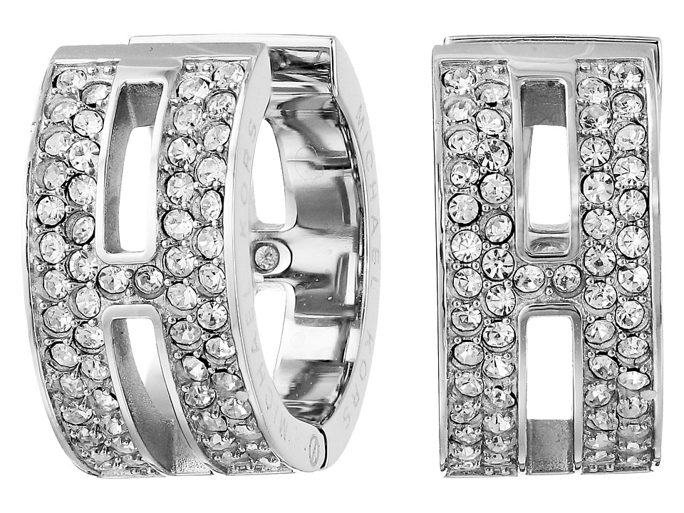 Michael Kors - Pave Maritime Huggie Earrings (Silver) Earring