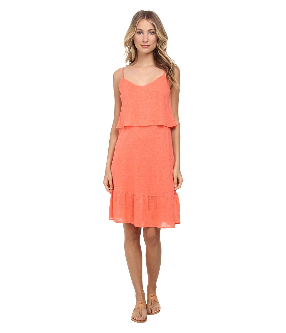 C&C California - Ruffle Sundress (Living Coral) Women's Dress