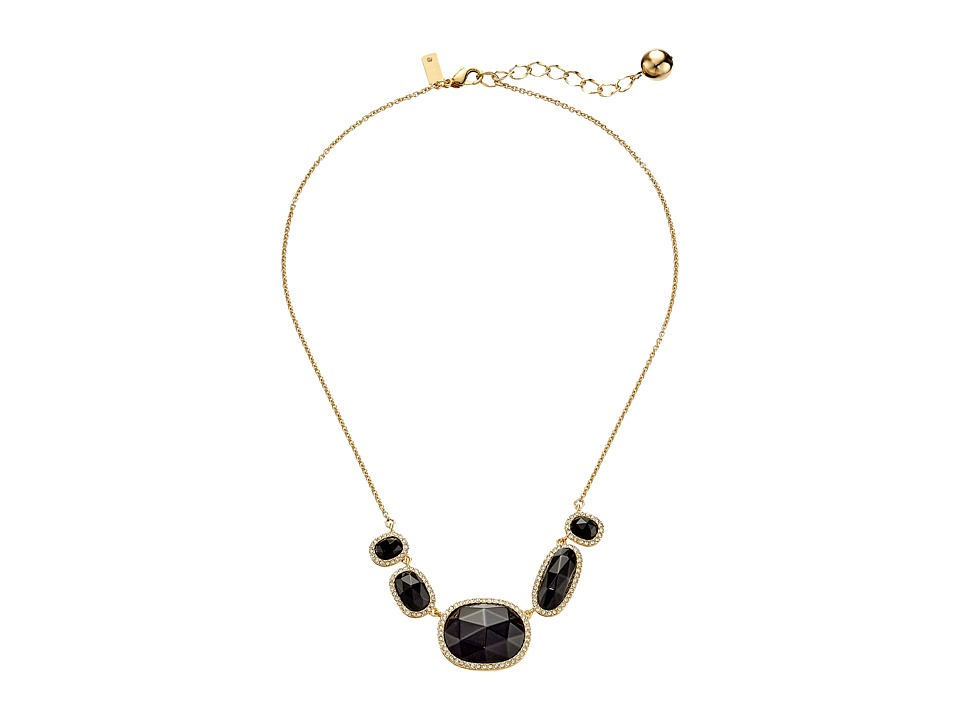 Kate Spade New York - Park Lex Row Necklace (Black) Necklace