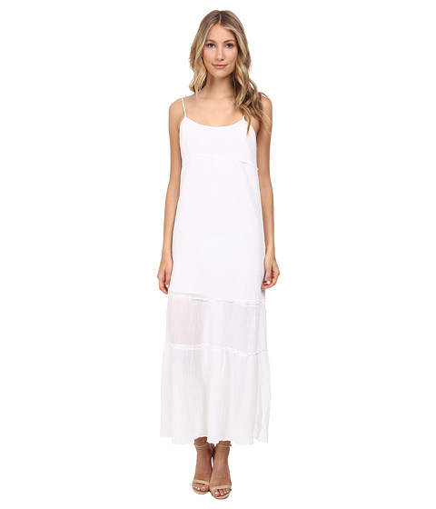 C&C California - Tiered Maxi Dress (White) Women's Dress