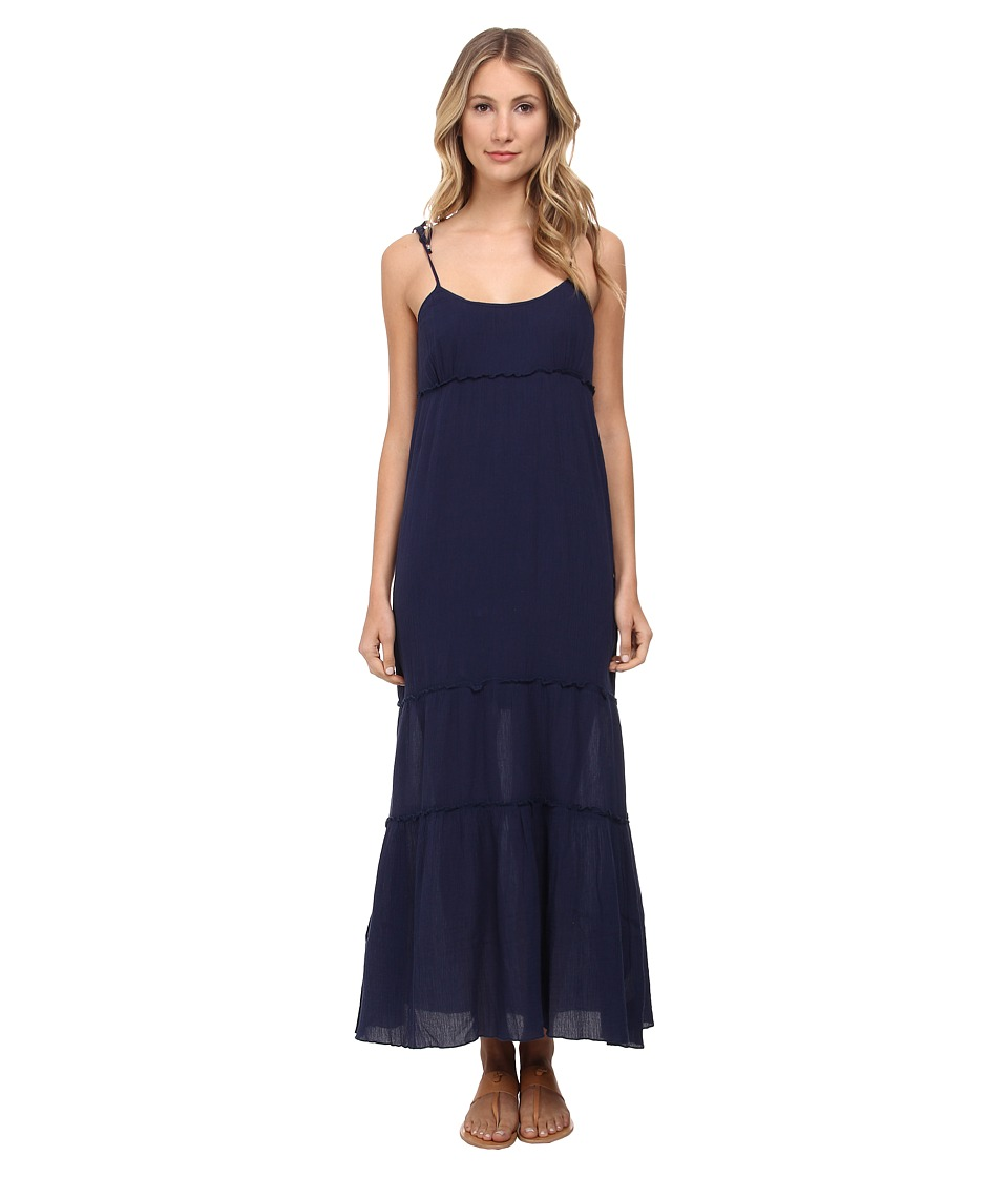 C&C California - Tiered Maxi Dress (Navy) Women's Dress