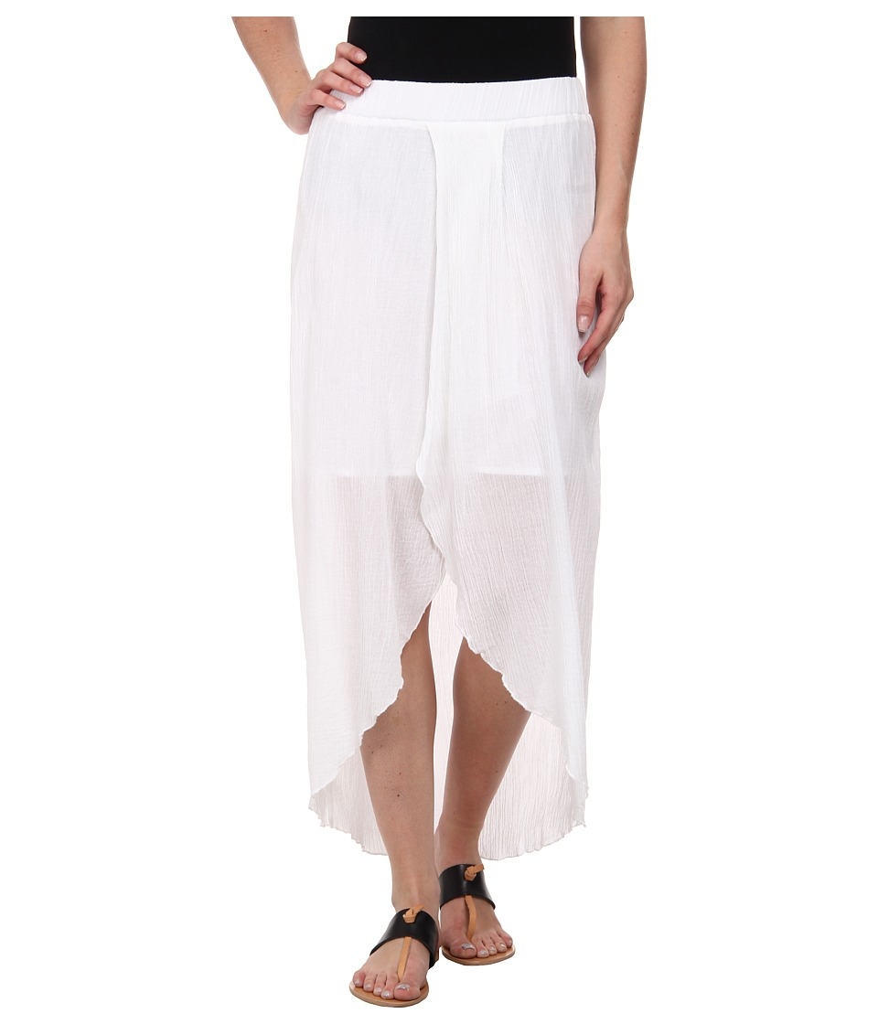 C&C California - Hi Low Maxi Skirt (White) Women's Skirt