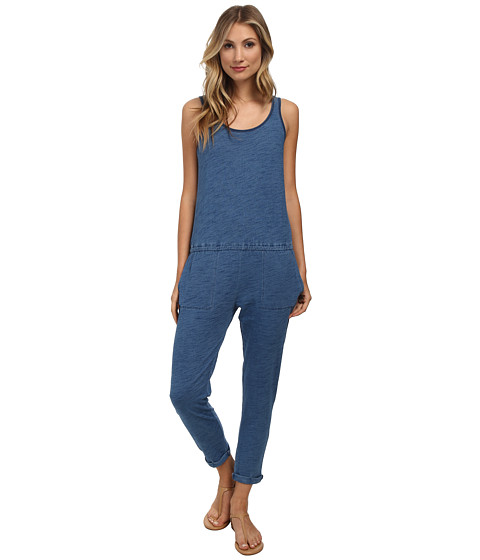 C&C California - Crop Jumper (Indigo) Women's Jumpsuit & Rompers One Piece