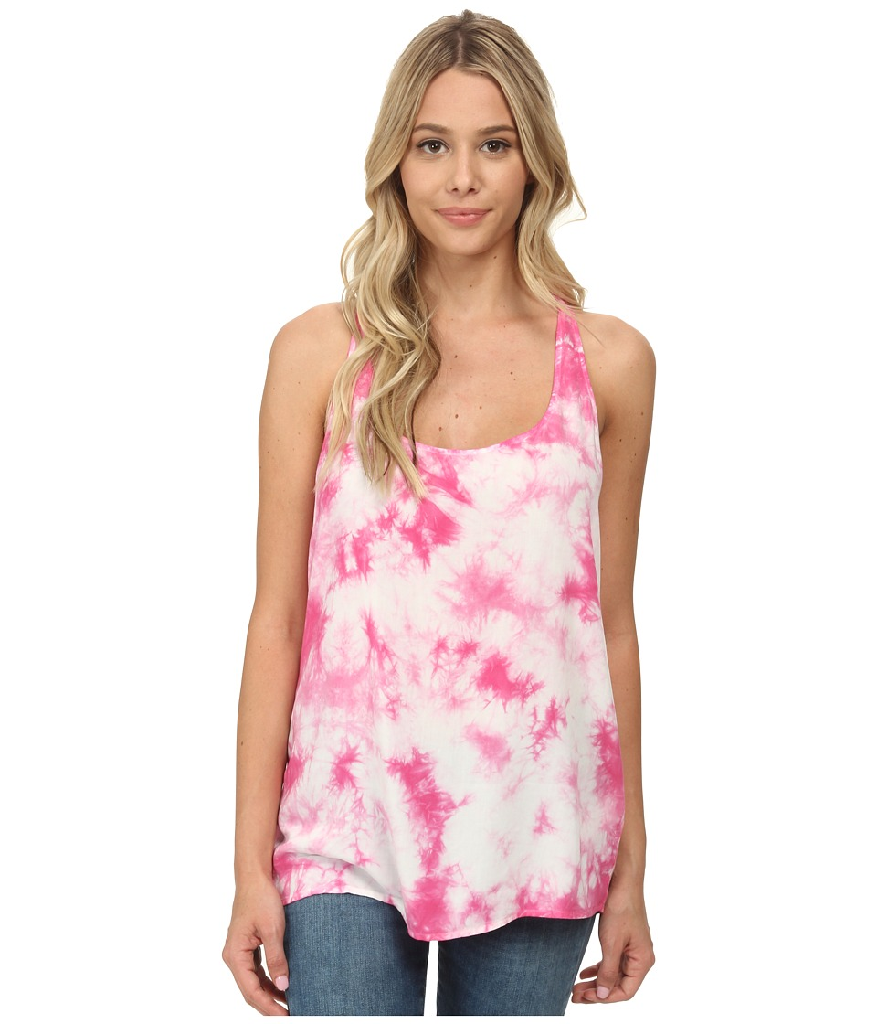 C&C California - Crystal Wash Tank Top (Shocking Pink) Women's Sleeveless