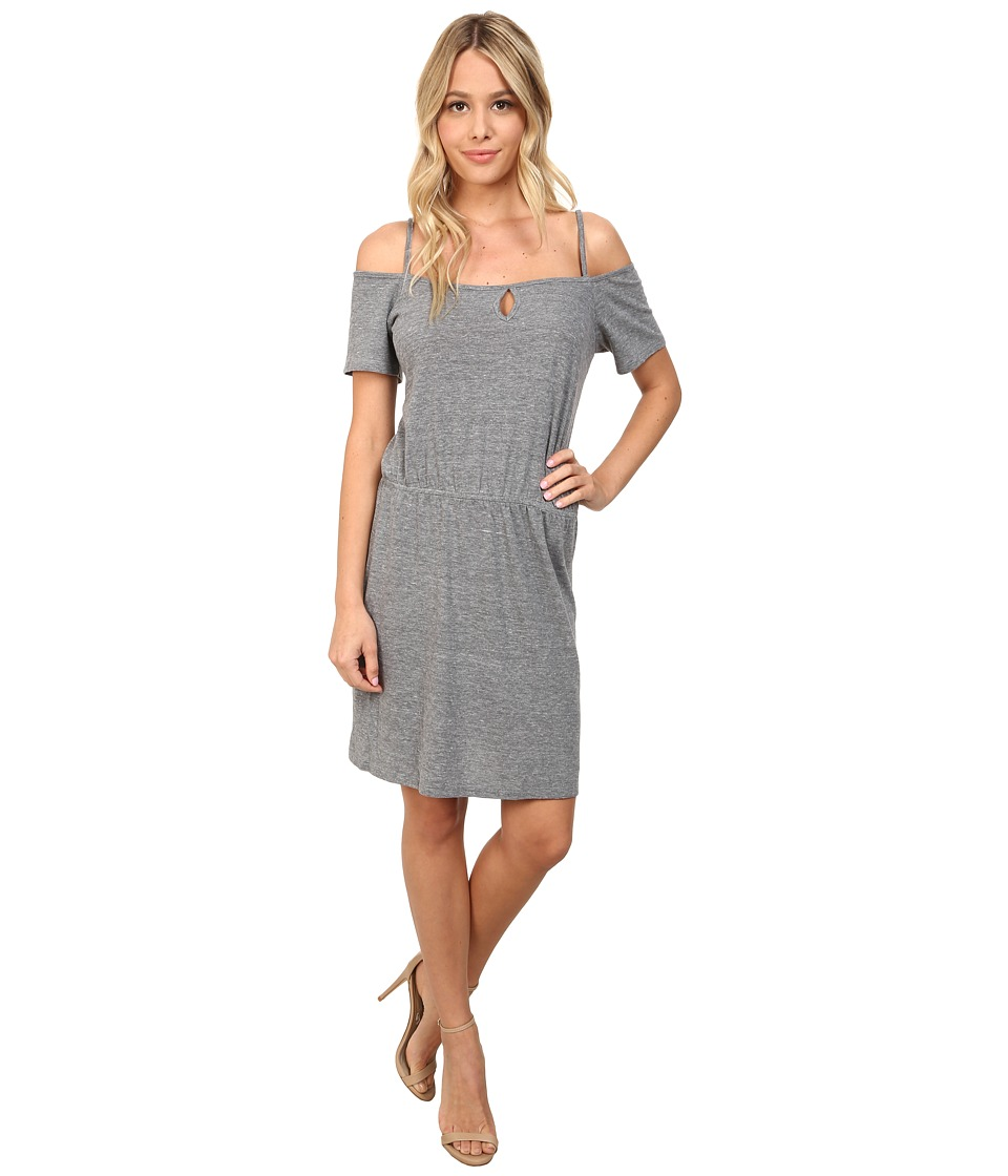 C&C California - Off Shoulder Sundress (Heather Grey) Women