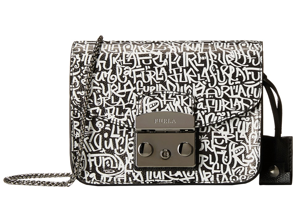 Furla - Metropolis Mini Crossbody (Onyx/Optical) Cross Body Handbags