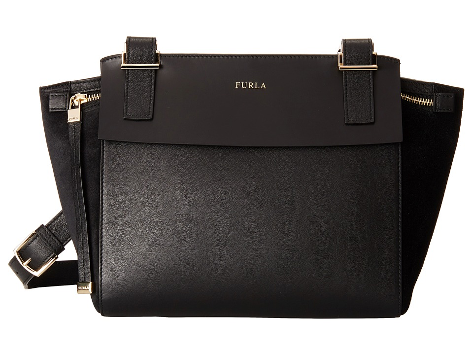 Furla - Dolce Vita Small Crossbody (Onyx) Cross Body Handbags