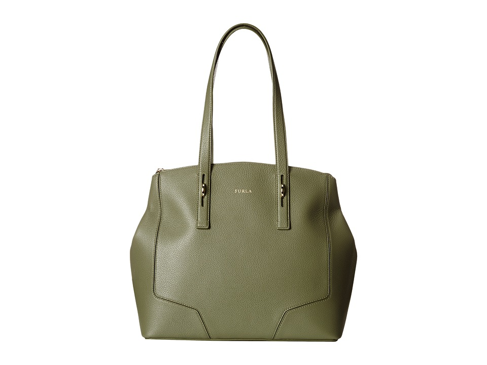 Furla - Perla Medium Tote w/ Zip (Salvia) Tote Handbags