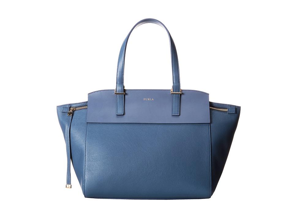 Furla - Dolce Vita Medium Tote C/Zip (Indaco) Tote Handbags