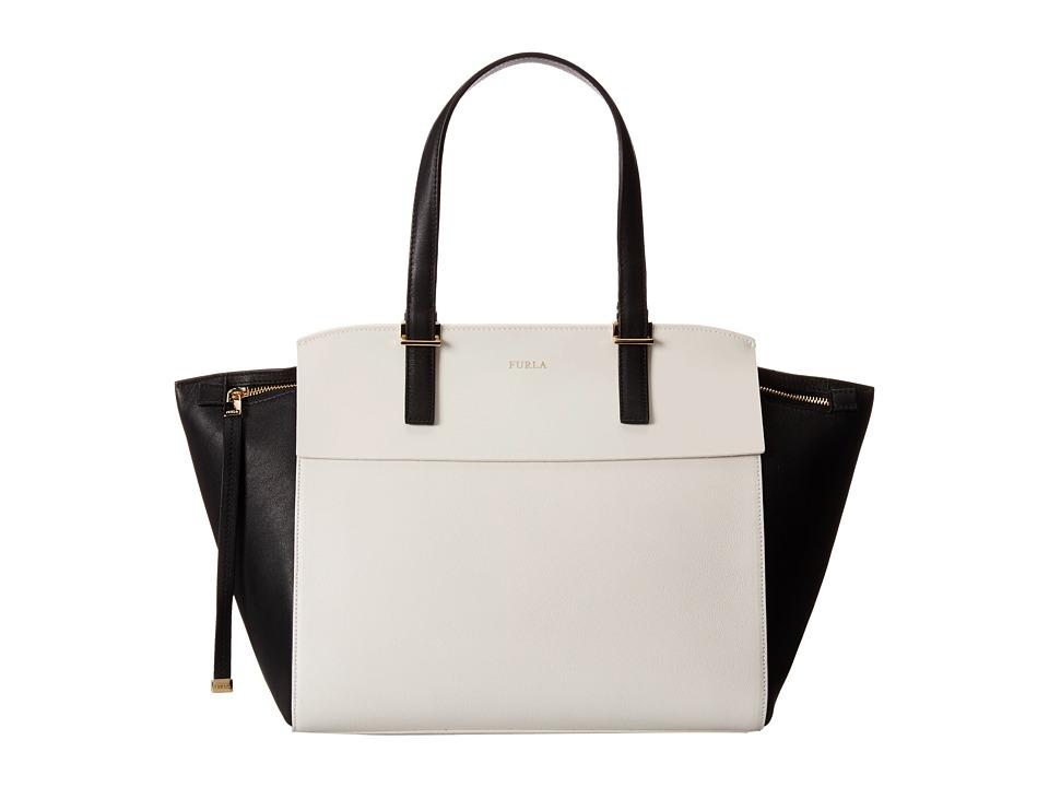 Furla - Dolce Vita Medium Tote C/Zip (Petalo/Onyx) Tote Handbags
