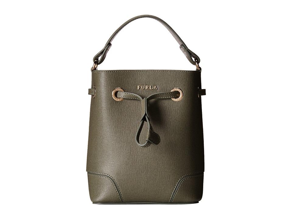 Furla - Stacy Mini Drawstring (Salvia) Drawstring Handbags