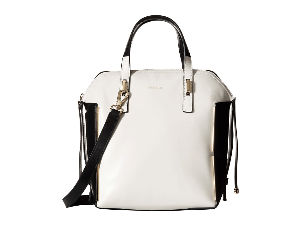 Furla - Dandy Medium Dome North/South (Petalo/Onyx) Handbags