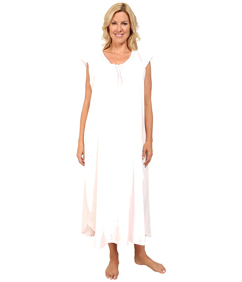 Carole Hochman - Plus Size Soft Jersey Long Gown (Pink Ice) Women's Pajama