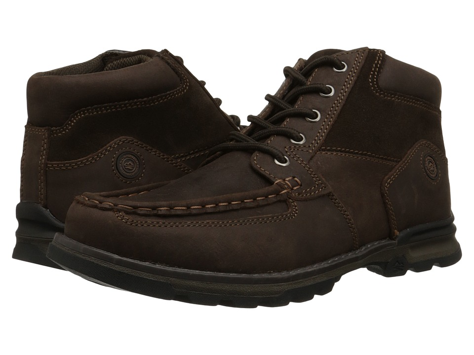 Nunn Bush - Pershing Moc Toe All Terrain Comfort (Brown) Men's Lace-up Boots