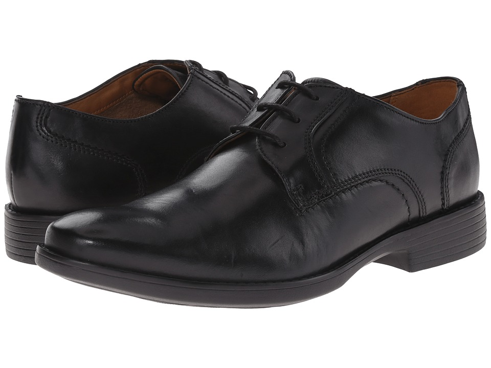 Bostonian - Wurster Plain (Black Leather) Men's Plain Toe Shoes