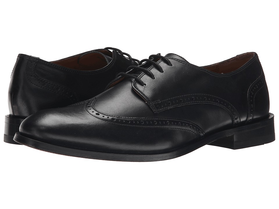 Bostonian - Vesey Free (Black Leather) Men's Lace Up Wing Tip Shoes