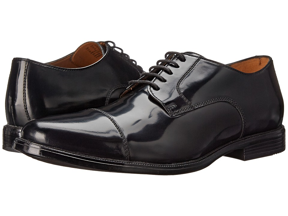 Bostonian - Kinnon Cap (Black Leather) Men's Lace Up Cap Toe Shoes