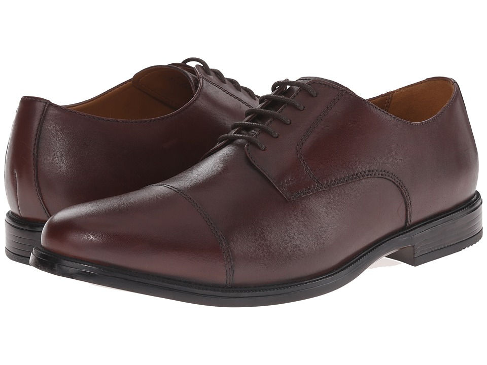 Bostonian - Kinnon Cap (Brown Leather) Men's Lace Up Cap Toe Shoes