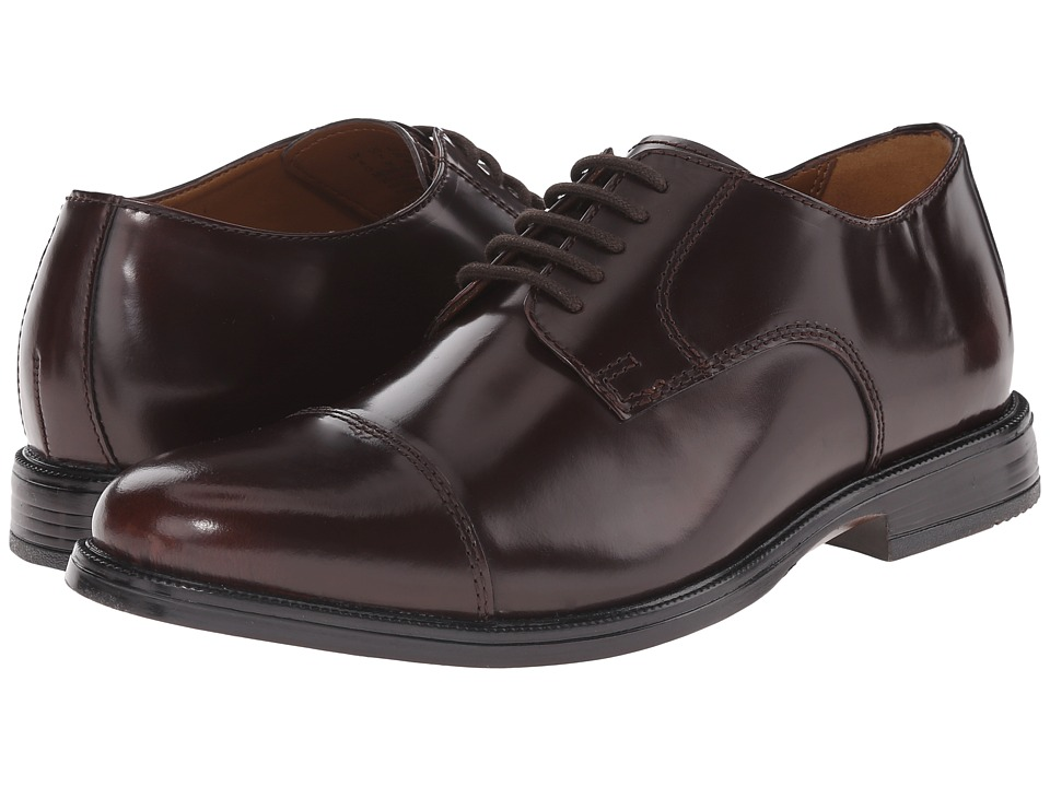Bostonian - Kinnon Cap (Burgundy Leather) Men's Lace Up Cap Toe Shoes
