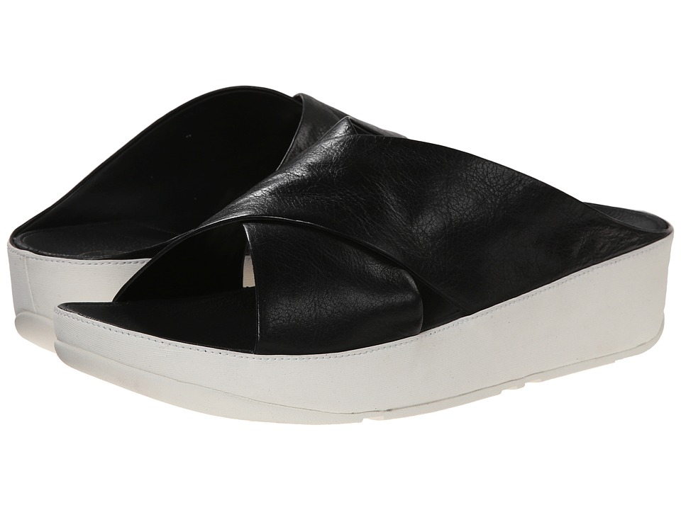 FitFlop - Kys Leather (Black/White) Women's Sandals