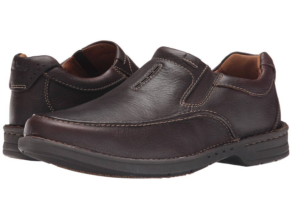 Clarks Untilary Easy (Brown Leather) Men
