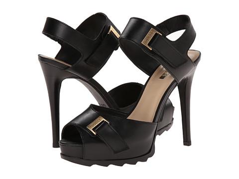GUESS - Baina (Black Leather) High Heels