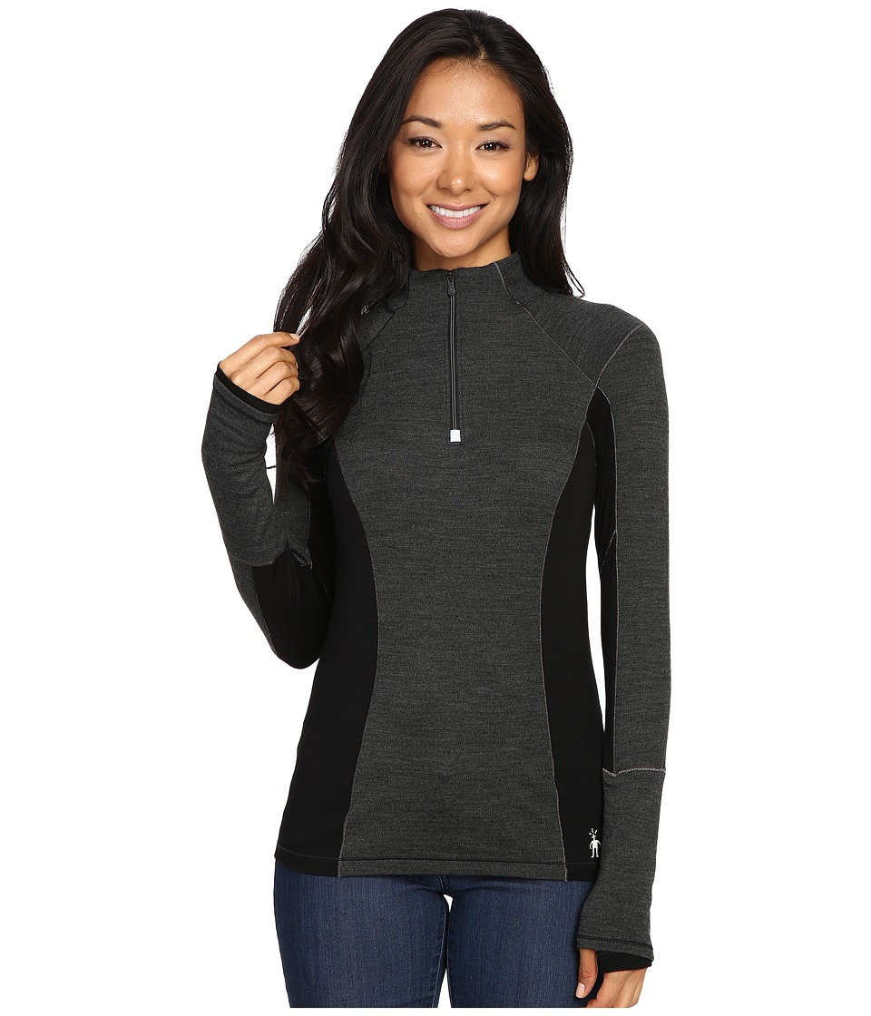 Smartwool - PhD(r) Light Zip T (Charcoal Heather) Women's Long Sleeve Pullover