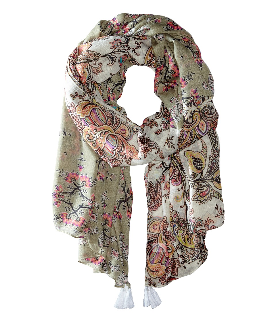 Echo Design - Spellbound Tassel Wrap (Khaki) Scarves