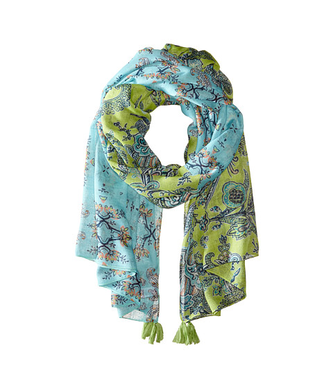 Echo Design - Spellbound Tassel Wrap (Chambray/Lemon Grass) Scarves