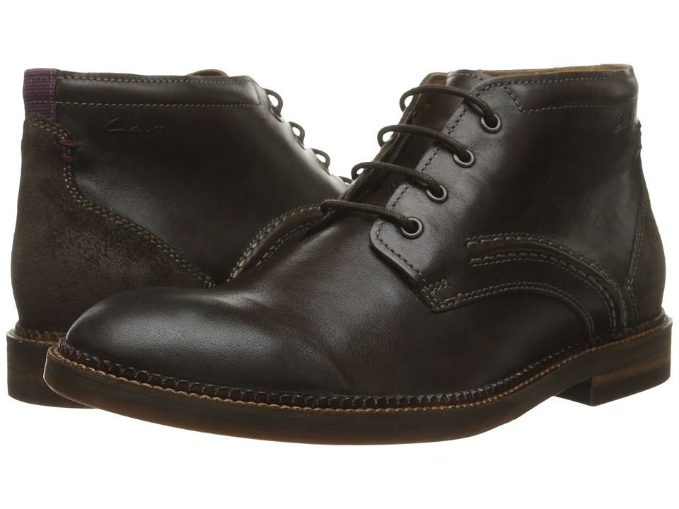 Clarks - Bushwick Mid (Dark Brown Leather) Men