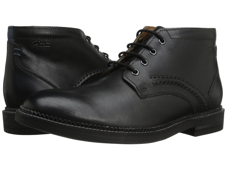 Clarks Bushwick Mid (Black Leather) Men
