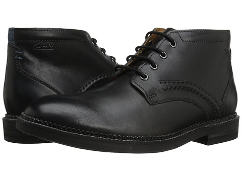 Clarks - Bushwick Mid (Black Leather) Men