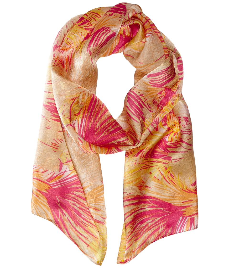 Echo Design - Festival Feathers Scarf (Coral) Scarves