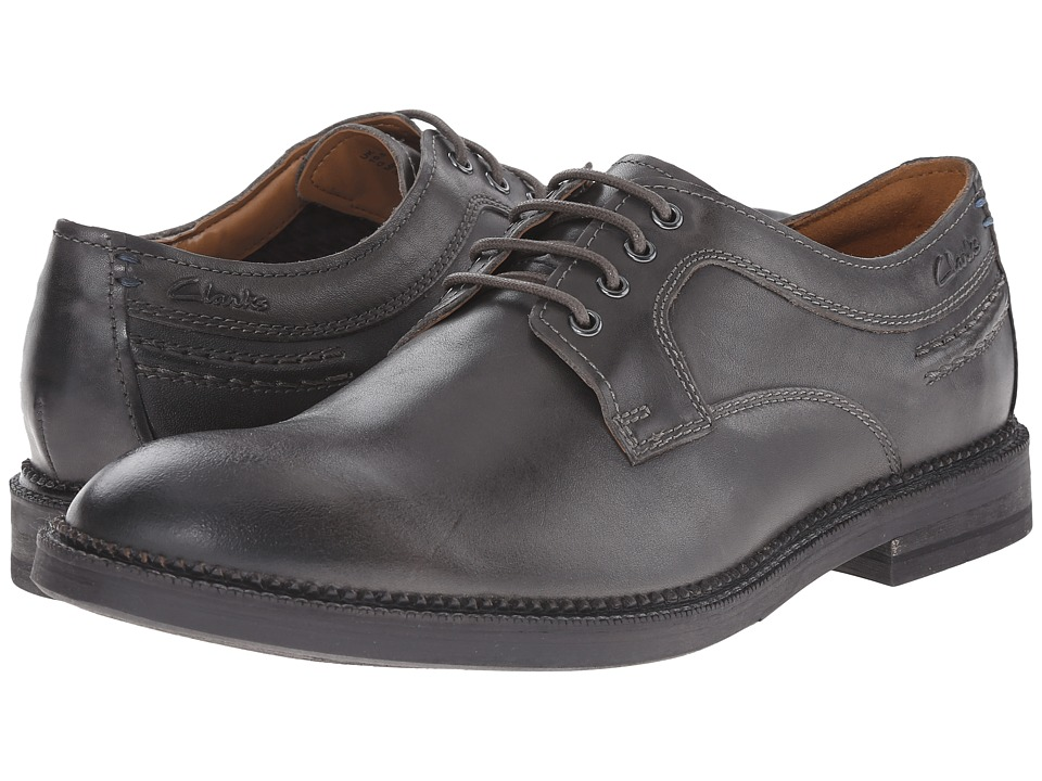Clarks - Bushwick Dale (Grey Leather) Men