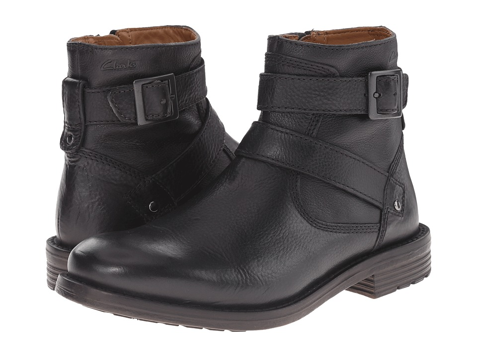 Clarks - Faulkner Top (Black Leather) Men