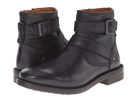 Clarks - Faulkner Top (Black Leather) Men's Boots