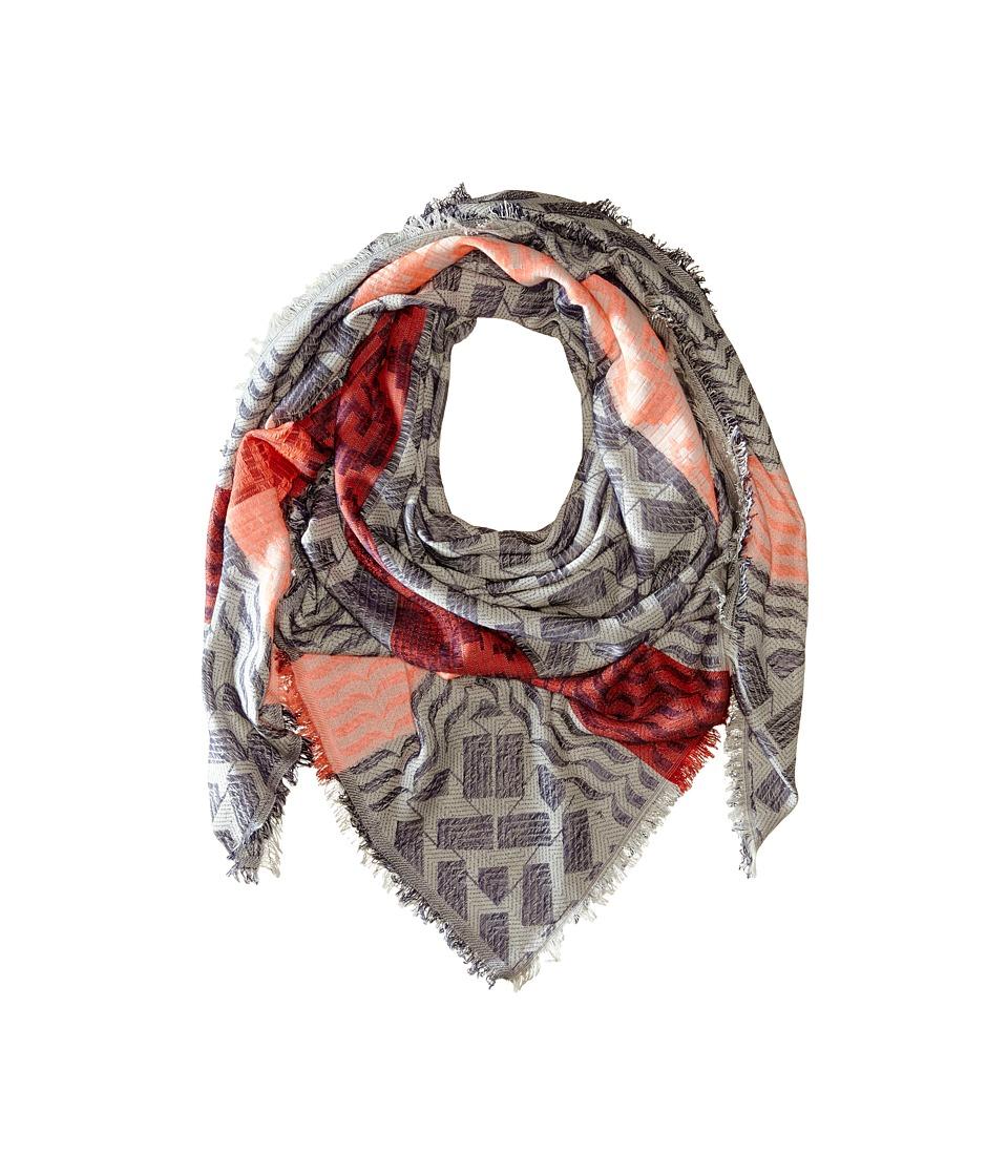 Echo Design - Bohemian Jacquard Scarf (Black) Scarves