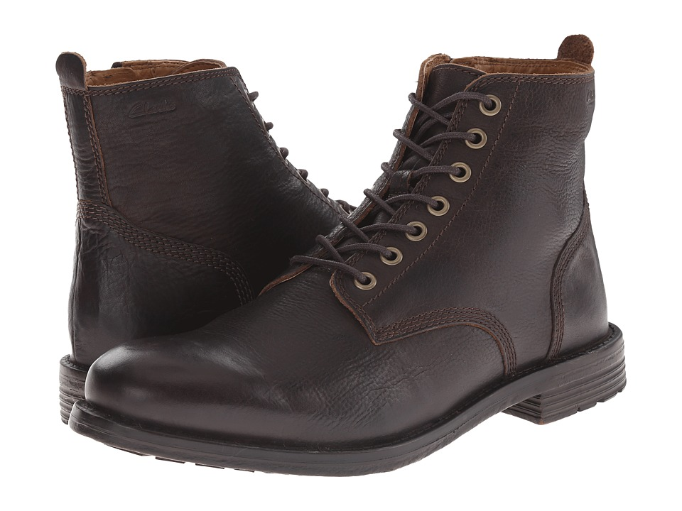 Clarks - Faulkner Rise (Walnut Leather) Men's Lace-up Boots