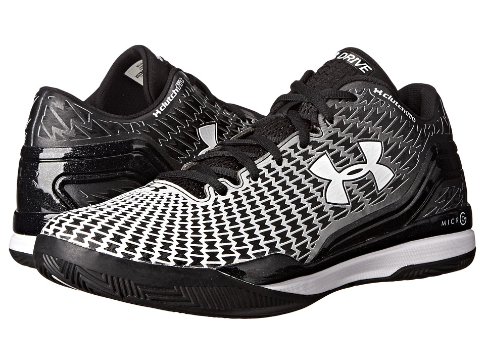 Under Armour - UA Clutchfittm Drive Low (Black/White) Men's Basketball Shoes