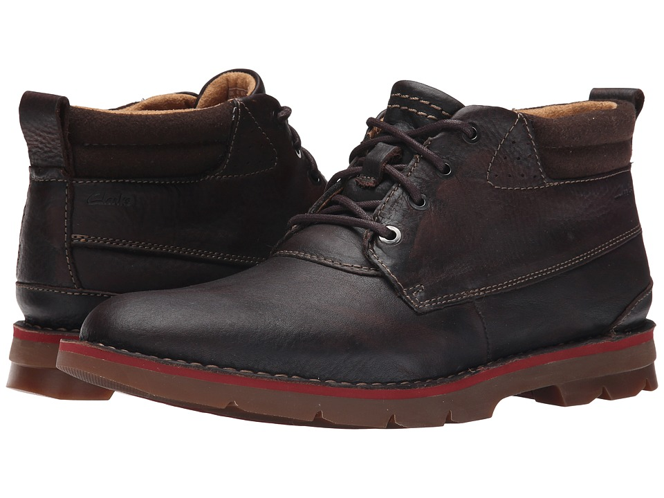 Clarks Varick Hill (Dark Brown Tumbled Leather) Men
